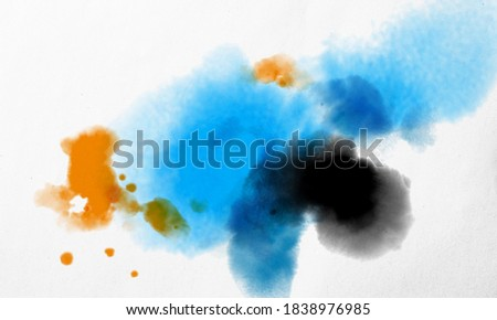 Very beautiful abstract watercolor painting and aesthetic for backgrounds and wallpapers. aquarelle paint textures for design elements such as posters, banners, presentations, cover art, etc.