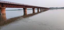 Very beautiful bridge Rajghat, Narora, Uttar Pradesh