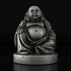 Very beautiful Buddha statue on a black mirror background