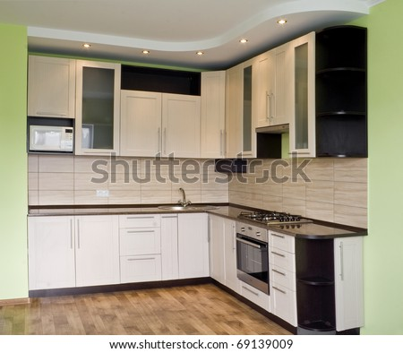 Very Beautiful To Interior Kitchen Furniture Stock Photo 69139009