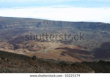 Very big crater at Tenerife island