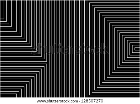 very big size black background with white lines in geometric harmony