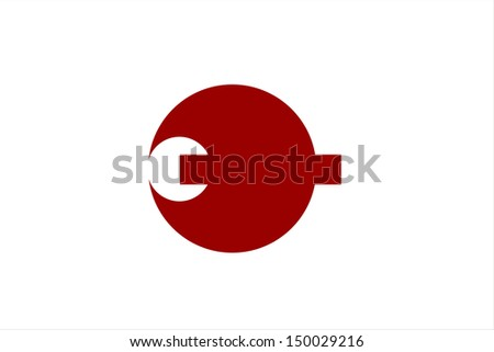 very big size flag of japan region nara
