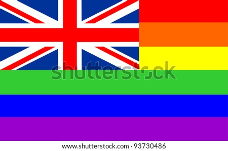 very big size gay proud flag illustration great britain