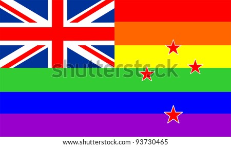 very big size gay proud flag illustration new zealand