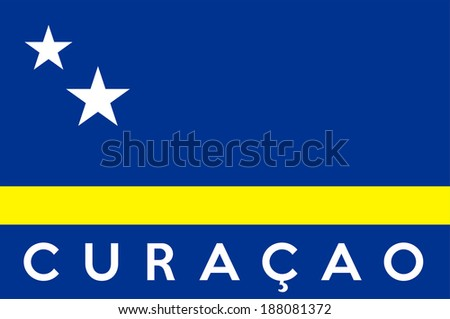 very big size illustration country flag of curacao