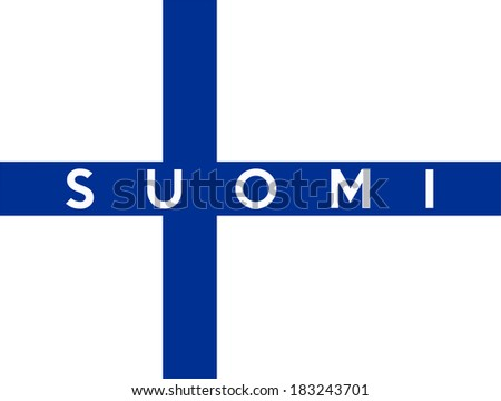very big size illustration country flag of finland