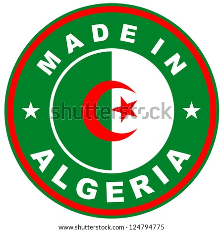 very big size made in algeria country label