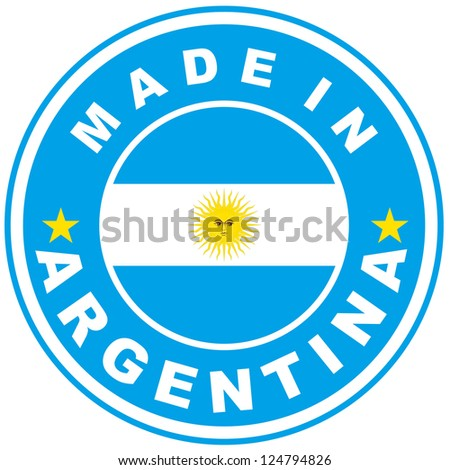 very big size made in argentina country label