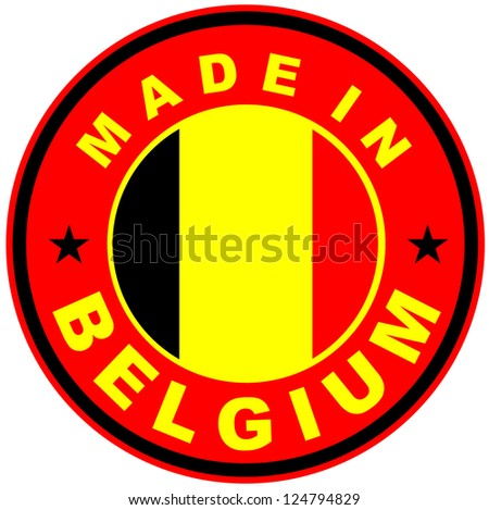 very big size made in belgium country label