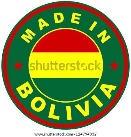 very big size made in bolivia country label