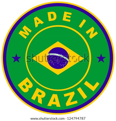 very big size made in brazil country label