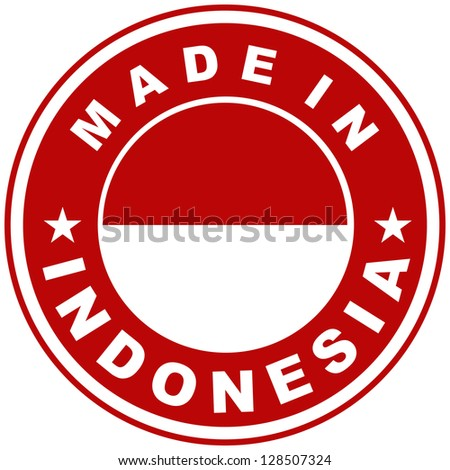 very big size made in indonesia country label