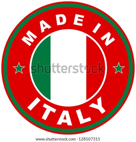 very big size made in italy country label - stock photo