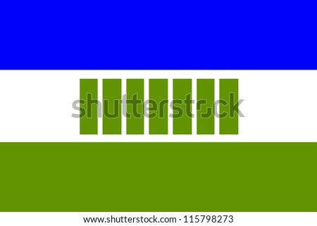 very big size Ovambo people ethnic groups flag illustration