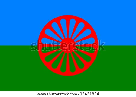 very big size romani gypsy flag illustration