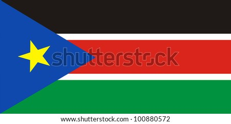 very big size south sudan country flag