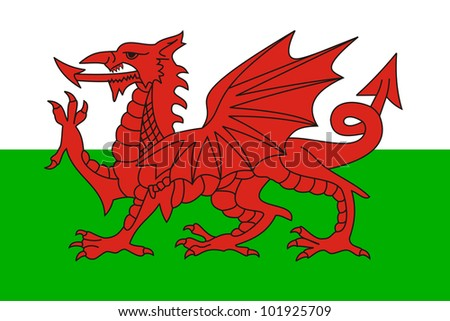 very big size wales country flag illustration
