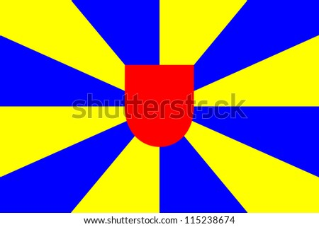 very big size West Flanders Belgium flag illustration