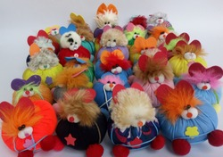 Very cute handmade dolls  and colorful..white background..