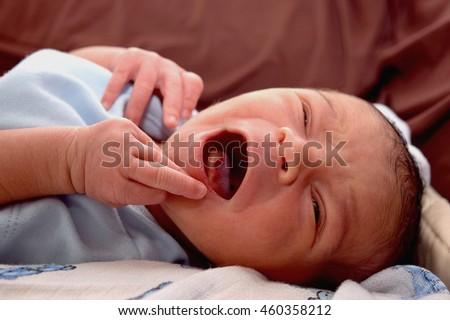 Very Cute 1 Week Old Baby Laughing Johnny Zac Preston Bacx , Hertfordshire ,England United Kingdom