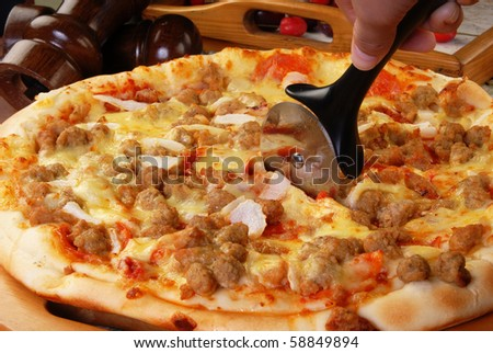 Very delicious pizza ready to eat