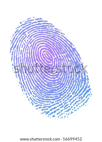 Very detailed Fingerprint in gradient color