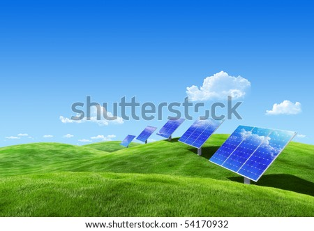 Very detailed 6000px field eco collection - Solar energy