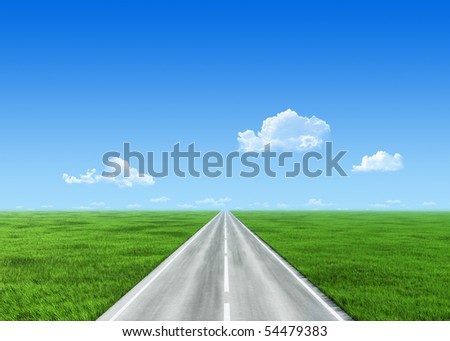 Very detailed 7000px road template