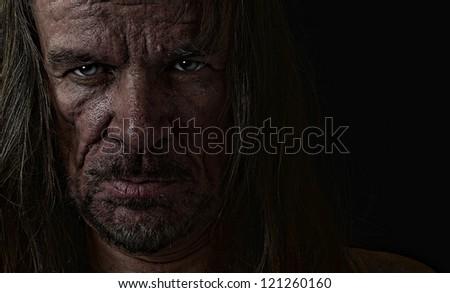 Very emotional Image of s depressed Evil man