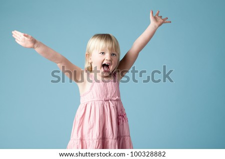 Very excited Cute Girl