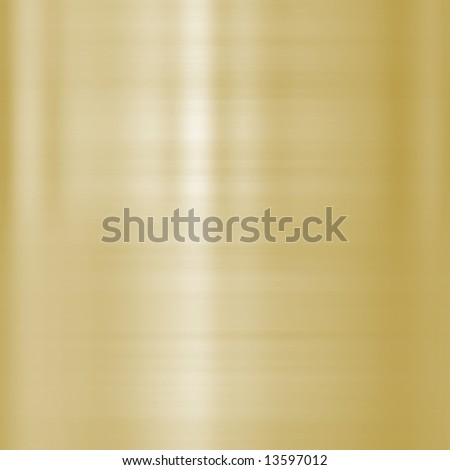 very finely brushed gold metal background texture