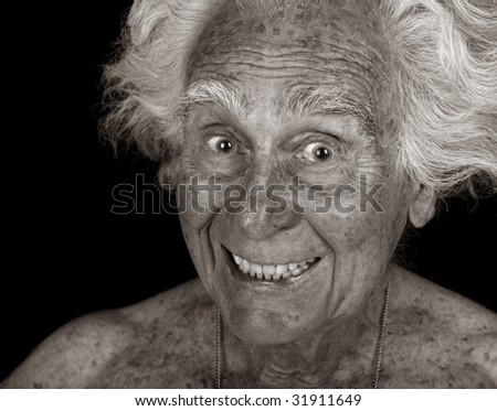 Very Funny Image of an Elderly man fooling around