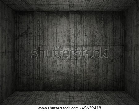Very grungy and dark concrete room for use as background, more images on this series in my portfolio