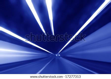 Very high speed drive through a tunnel