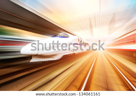 very high-speed train - stock photo