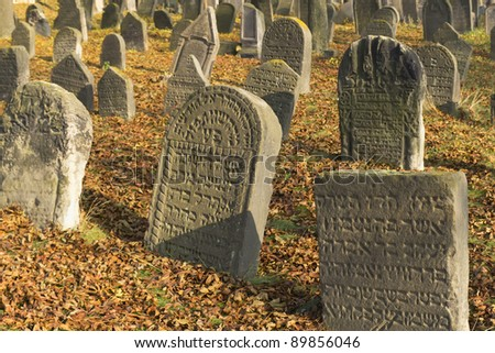 Very important Jewish cemetery in Libochovice (Czech Republic), founded in 1583 with many tombstones of Renaissance and Baroque type.