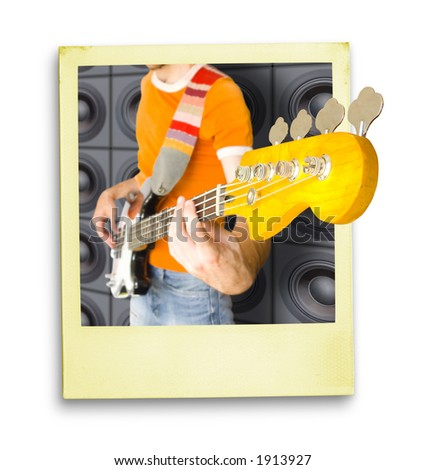 Very Live :) Concert Photo  (with clipping path for easy background removing if needed) - stock photo