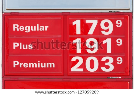 Very low gasoline prices in Texas, November 2008