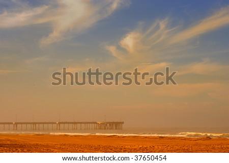 Very Nice Image Of Venice beach Pier,in California - stock photo