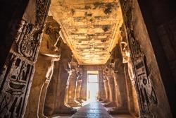 Very nice inside view of Abu Simbel temple near Aswan Egypt