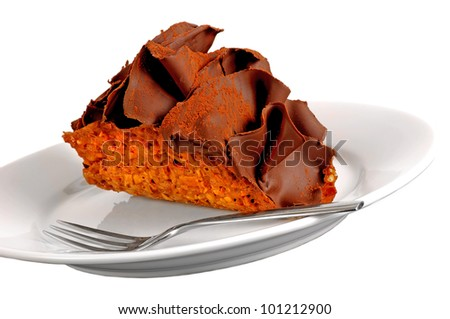 very nice tasty isolated image of a Chocolate Taco