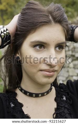 very nice teenager in park