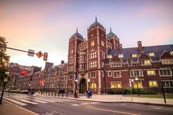 Very old building in University of Pennsylvania in Philadelphia, Pennsylvania