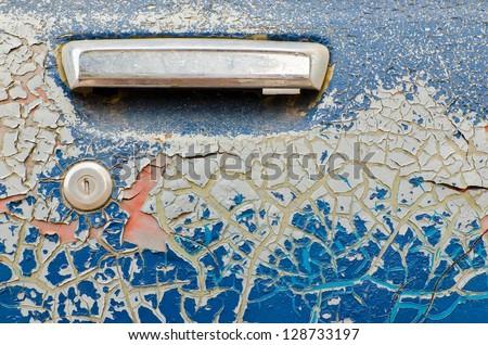 Very old car door