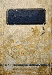 Very old empty book cover paper texture. Vintage retro design. Grunge abstract background.