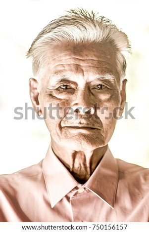 44fd48c68 Happy Grandfather, Senior with beard and white hair, old man Images ...
