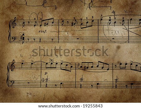Very old music sheet