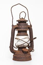 Very old rusty oil lantern