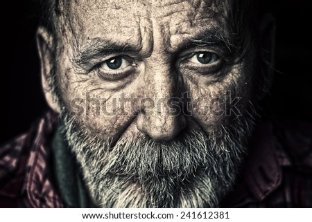 Very old senior man portrait #241612381